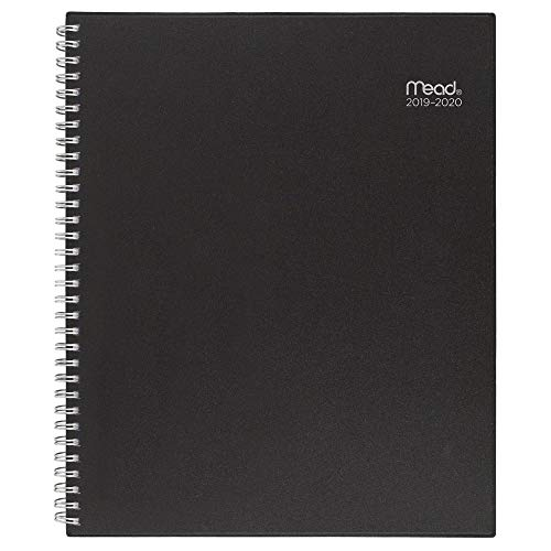 "Mead 2019-2020 Academic Year Weekly & Monthly Planner, Large, 8-1/2"" x 11"", Basic, Black (CAW62005)"