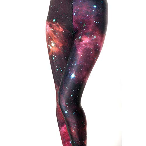 Idingding Womens Galaxy Star Printed High Waist Leggings Pants, Dark Red, S (Best Womens Costumes Ever)