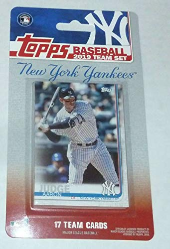 (2019 Topps Factory Sealed New York Yankees Team Set of 17 Cards: Aaron Judge(#NY-1), Giancarlo Stanton(#NY-2), Gleyber Torres(#NY-3), Luis Severino(#NY-4), James Paxton(#NY-5), Miguel Andujar(#NY-6), Didi Gregorius(#NY-7), Masahiro Tanaka(#NY-8), CC Sabathia(#NY-9), Sonny Gray(#NY-10), Aroldis Chapman(#NY-11), Troy Tulowitzki(#NY-12), Gary Sanchez(#NY-13), Luke Voit(#NY-14), Greg Bird(#NY-15), Aaron  Hicks(#NY-16), Brett Gardner(#NY-17))