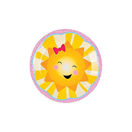 Fun Express - You Are My Sunshine Dessert Plates (8pc) for Birthday - Party Supplies - Print Tableware - Print Plates & Bowls - Birthday - 8 Pieces
