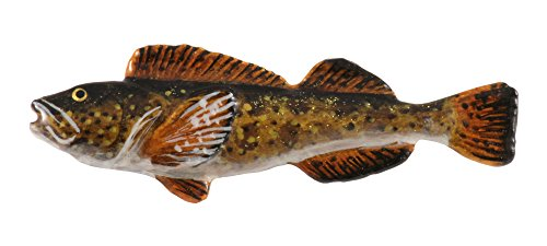 gns, Pewter Lingcod, Handcrafted Saltwater Fish Lapel Pin Brooch, Hand Painted, SP065 ()