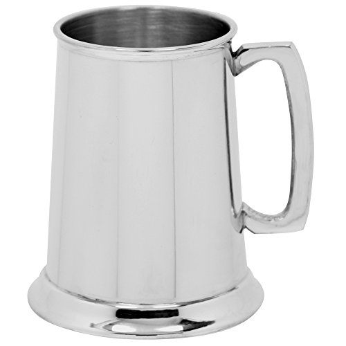 English Pewter Company 1 Pint Plain Straight Pewter Beer Mug Tankard [EP002]
