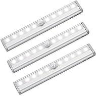 Amir 10 LED Motion Sensing Closet Lights, 3 Pack DIY...
