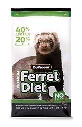 ZUPREEM 230056 Prem Ferret Diet Food, 4-Pound