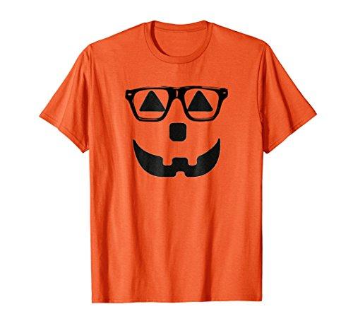 Mens Hipster Pumpkin Carving Face Jack-O-Lantern Inspired T-Shirt XL Orange