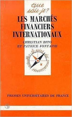 Livres Les marchés financiers internationaux : le marché international des capitaux pdf, epub ebook