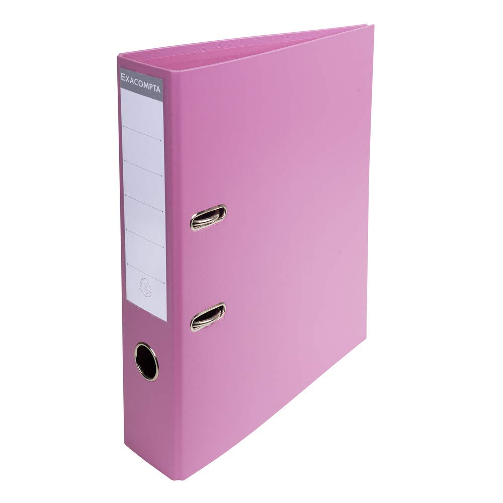 Exacompta Prem'Touch PVC Lever Arch File, 70mm Spine, 2 Ring - Pink ExaClair Limited 53755E