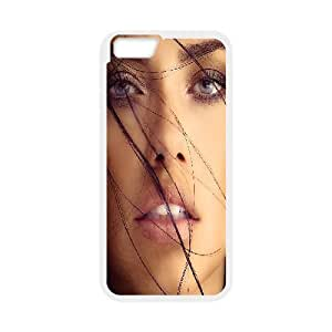 IPhone 6 Plus Cases Beautiful Adriana Lima for Women Protective, Phone Case for Iphone 6 Plus for Men Bloomingbluerose, {White}