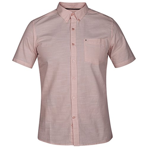 - Hurley One and Only SS Button Down Shirt - Storm Pink - XL