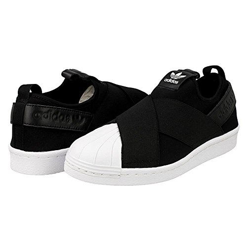 Adidas Originals Women's Superstar Slip on W, Black/Black/White, 5 Medium US
