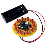 iCubeEdv Spinning LED Wheel Electronic DIY Soldering Kits for Kids Electronics Education School Competition Project Kits (red)