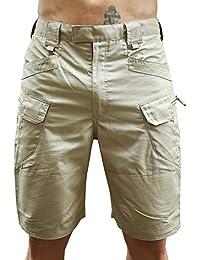 HiTiger Men's Camo Cargo Tactical Knee Length Half Work Shorts