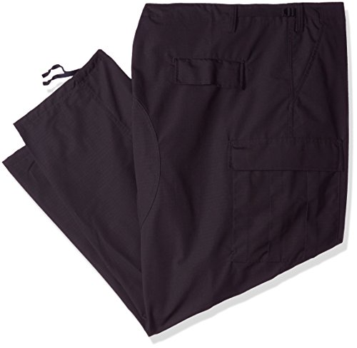 TRU-SPEC 1324010 Classic BDU Pants, Polyester Cotton Rip-Stop, 5X-Large Regular, Black ()