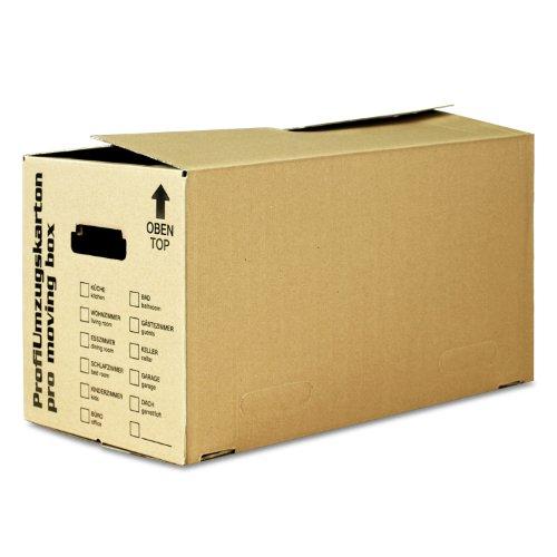 15x Umzugskarton stabil, Größe L, 2-wellig, braun