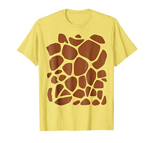 Giraffe Print T-Shirt Easy DIY Halloween Costume -