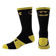 Under Armour Men Batman Crew Socks-Black/Yellow