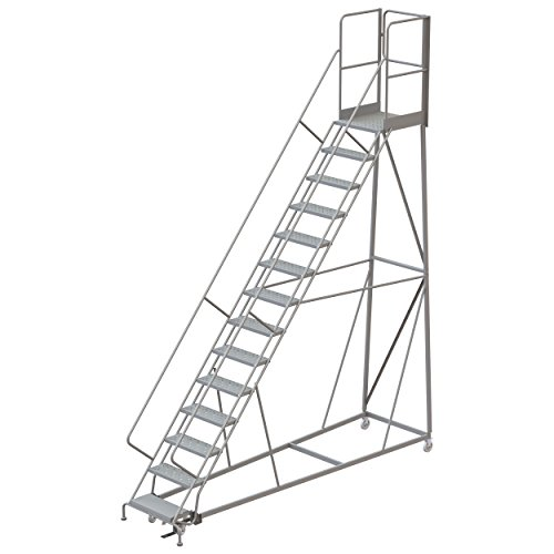 - Tri-Arc RWEC114246-XR 14-Step Gateway Rear-Exit Gate Forward Descent Incline Ladder with 27