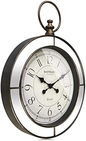 SwizMiuArt Large Pocket Watch Modern Wall Clock 24 inch