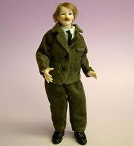 Man In Brown Suit Dollhouse Doll by Heidi Ott (X078)