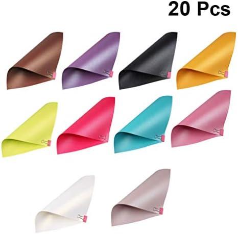 20 Pétalos de Rosa Majestic Brillo Nacarado A4 de doble cara de papel 120GSM