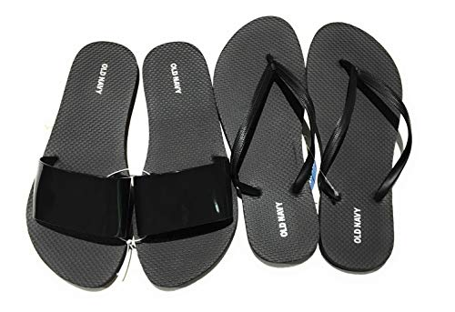 Casual Slide - Old Navy Flip Flop Sandals for Woman, Great for Beach or Casual Wear (8, Blackjack Jelly Slide and Black)