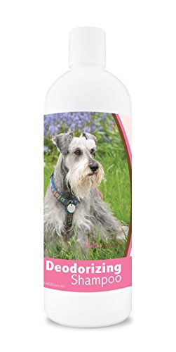 Healthy Breeds Dog Deodorizing Shampoo for Miniature Schnauzer - Over 80 Breeds - For Itchy, Sensitive, Dry, Flaking, Scaling Skin and Coat – Hypoallergenic Formula and pH Balanced – 16 oz
