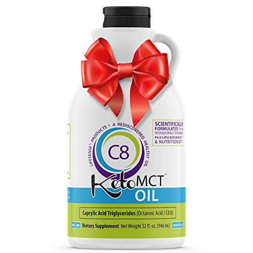Premium C8 MCT oil, 32 oz, Custom easy pour Bottle, Pure Most Potent on the Market, Developed by world-class Ph. D doctor and professor of nutrition, trusted choice of Practitioners, made in USA Review