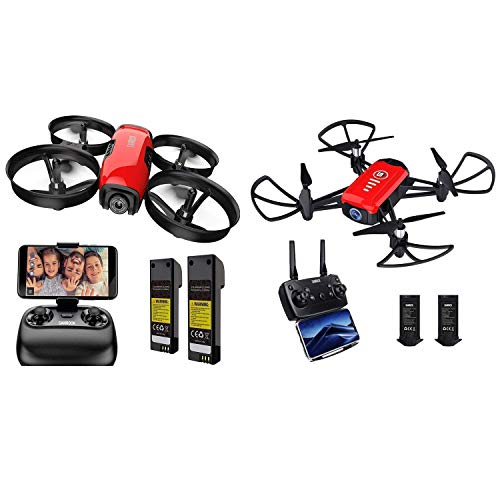 SANROCK U61W Drones for Kids with 720P Camera + SANROCK H818 Drones for Kids with 720P Real-time Camera
