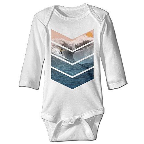 TENGBOKY Funny Baby Onesies Sunrise Surfer Christmas Onesie Babys Long Sleeve -