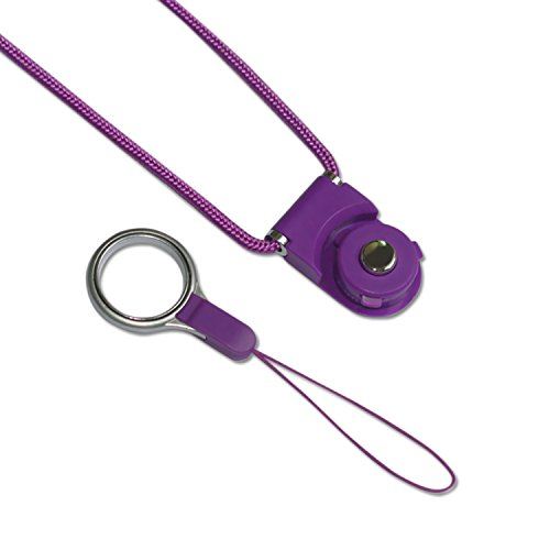Retail Packaging 1 Pack Navy Reiko STRAP-LCNV Fashionable Universal Neck Strap Lanyard for Mobile Phones