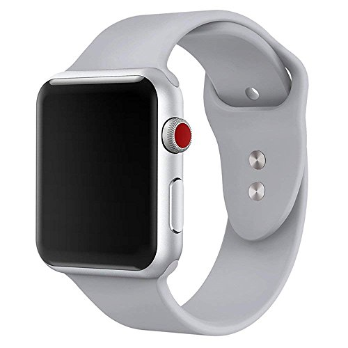 Yimzen Band for Apple Watch Series 3 38mm 42mm, Soft Silicone Replacement Sport Band iWatch Strap for Apple Watch Series 3 Series 2 Series 1, S/M M/L Size