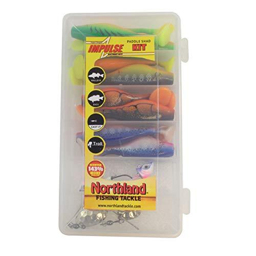 Northland Tackle Impulse Paddle Shad Kit - 24/Pc 1/Bg Assorted