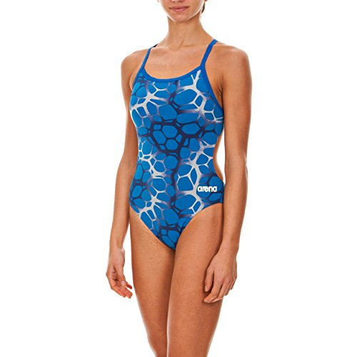 Arena Women's Polycarbonate One Piece Swimsuit, Royal/Multi, 32