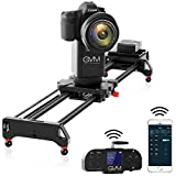 GVM Camera Slider  31 inch 2-Axis Carbon Fiber Motorized Slider Track Dolly Rail with APP Control and Wireless Controller  360 Degree Panoramic Shooting and Time-Lapse Photography for Most DSLR Cameras