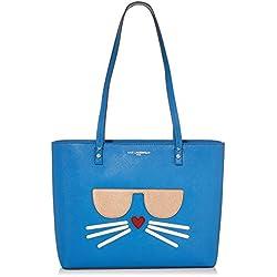 Karl Lagerfeld Paris Maybelle bolsa, Azul French, Talla unica