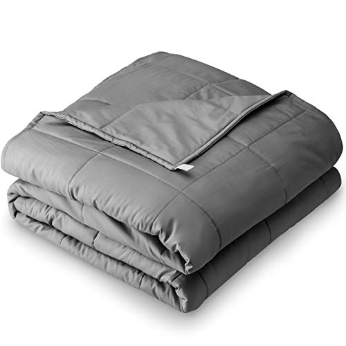Bare Home Weighted Blanket 17lb (60'x80'), Heavy Blanket Standard Size for...