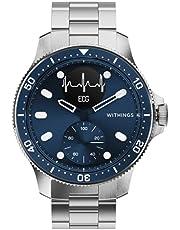 Withings Scanwatch Horizon – Hybrid smartklocka med EKG, puls och oximeter – 43 mm blå