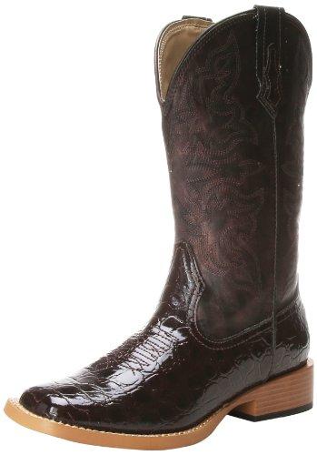 Roper Women's Embossed Croco Riding Boot,Brown,7 M (Croco Print Shoe Boot)