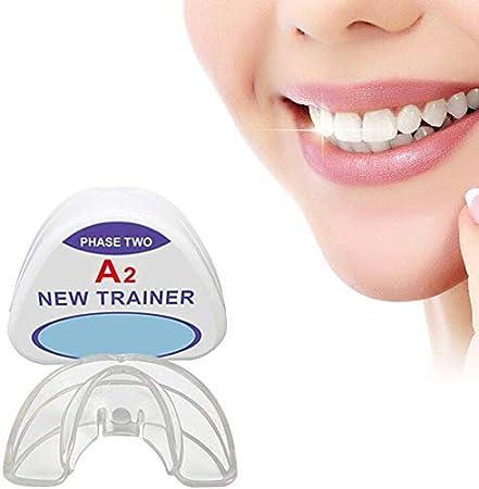 Retenedores de ortodoncia, diente de ortodoncia dental Trainer aparato de alineación de los dientes de alineación Brace fijador dental noche Protector de boca de ortodoncia Appliance ( Color : A2 )