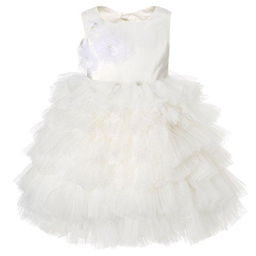 Hanakimi Sleeveless Tea-length Layered Tulle Special Occasion Dress JMK1610 (Custom Size, - Sweetie Satin Pie