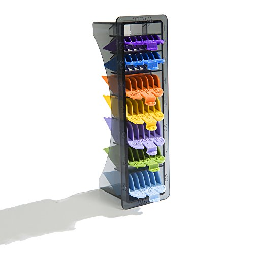 """Wahl Professional 8 Color Coded Cutting Guides with Organizer #3170-400 – Great for Professional Stylists and Barbers – Cutting Lengths from 1/8"""" to 1 by Wahl Professional (Image #5)"""