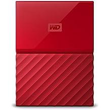 WD 2TB Red My Passport Portable External Hard Drive - USB 3.0 - WDBYFT0020BRD-WESN