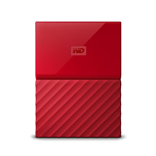 WD 2TB Red My Passport  Portable External Hard Drive - USB 3.0 - WDBYFT0020BRD-WESN