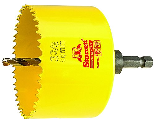 - HSS BI-Metal, DEEP Cut Hole Saw with Arbor, 3-3/8