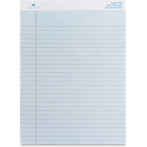 Sparco Products SPR01077 Colored Pad- Legal Rule- 50 Sheets- 8-.50in.x11-.75in.- 12-DZ- -