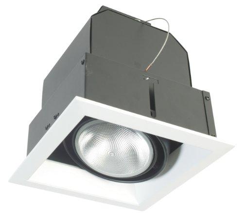 Eurofase TE131-0N 1-Light PAR30 Recessed Mutiple Square Trim, Platinum Eurofase Platinum Trim