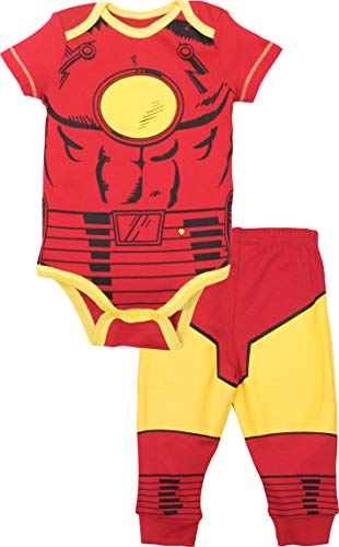 Marvel Avengers Baby Boys' Bodysuit & Pants Clothing Set, Iron-Man (3-6M)