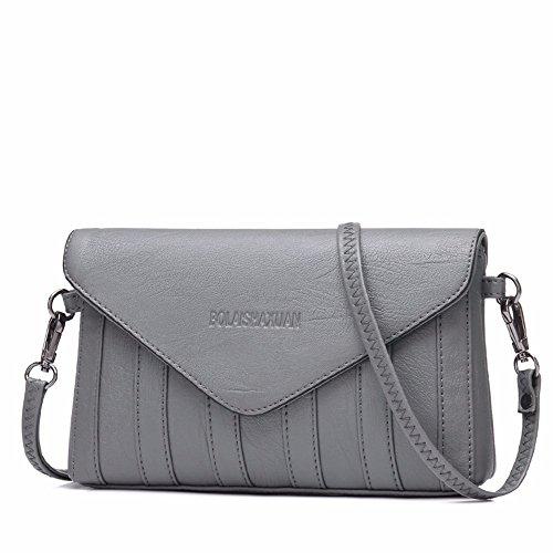 pochette sac 14 Gray 3 mode sac enveloppe black 23 simple cm nouvelle sac épaule messager wBC18qqx