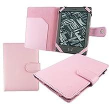 Emartbuy® Nook GlowLight Plus eReader 6 Inch Baby Pink PU Leather Wallet Case Cover Sleeve Folio