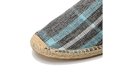 8c8207430d54c ... Amazon.com IVANCA Men s Fashion Casual Slip-On Loafer Espadrille Flat  Canvas Shoes  Shoe ...